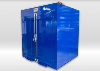 Befahrbarer Umluft Trockenofen mit integriertem Adsorptions-Trocknungs-Entfeuchter